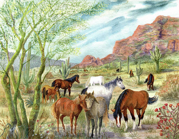 Area Painting - Wild And Free Forever by Marilyn Smith