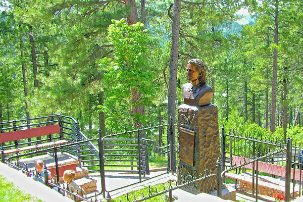 Wild Bill Hickock Photograph - Wild Bill Hickock's Gravesite In Mount Moriah Cemetery In Deadwood, South Dakota by Ruth Hager
