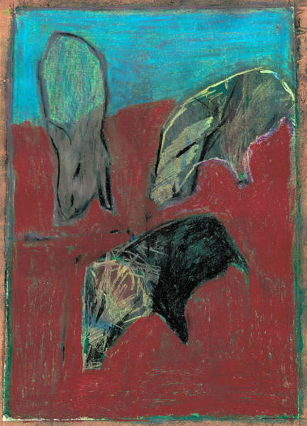 Pastel - Wild Boar And Wild Pigs by Artist Dot