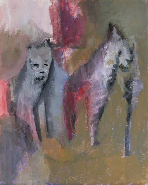 Painting - Wild Cats by Artist Dot
