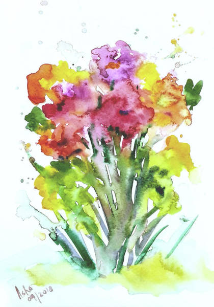 Wall Art - Painting - Wild Flowers by Asha Sudhaker Shenoy