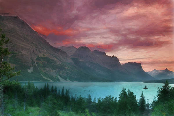 Photograph - Wild Goose Island Glacier National Park 102 by Rich Franco