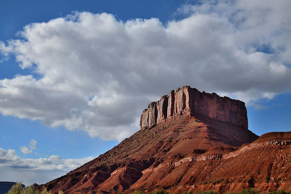 Photograph - Wild Horse Butte In Castle Valley In Utah by Ray Mathis
