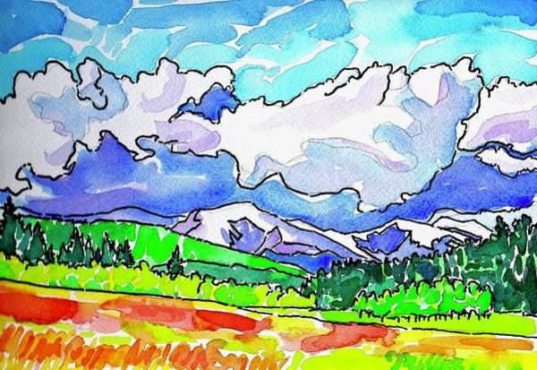 Painting - Wild Iris Meadow by Dan Miller