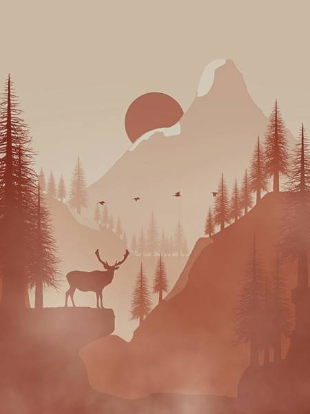 Wall Art - Digital Art - Wild Mountain by Michael Reynolds