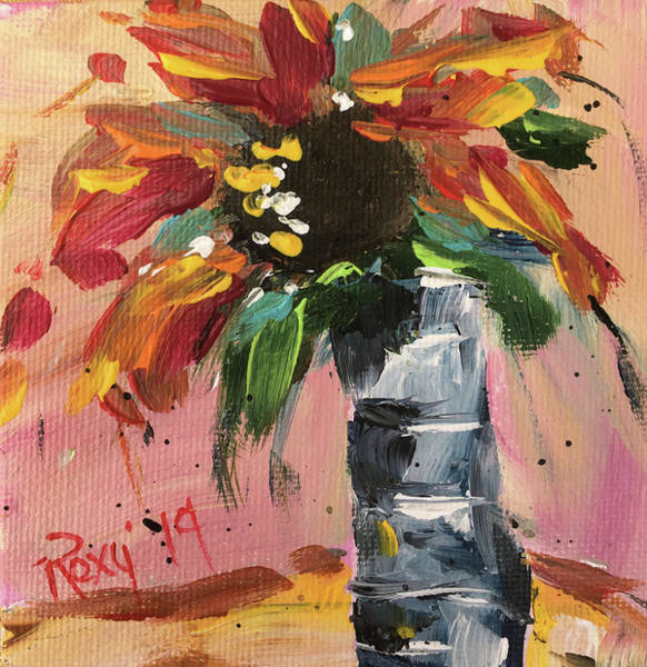 Wall Art - Painting - Wild Sunflower by Roxy Rich