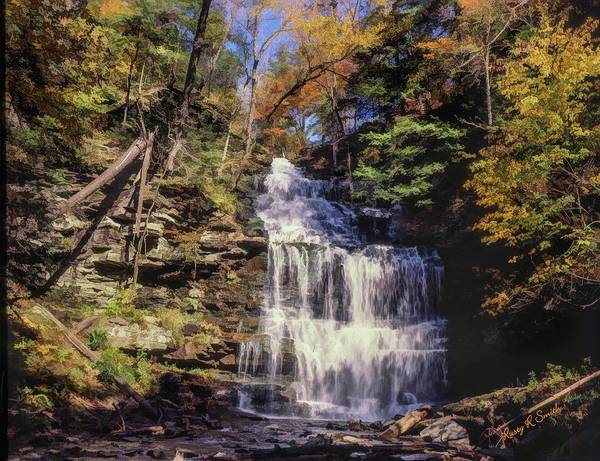 Digital Art - Wild Waterfall by Rusty R Smith