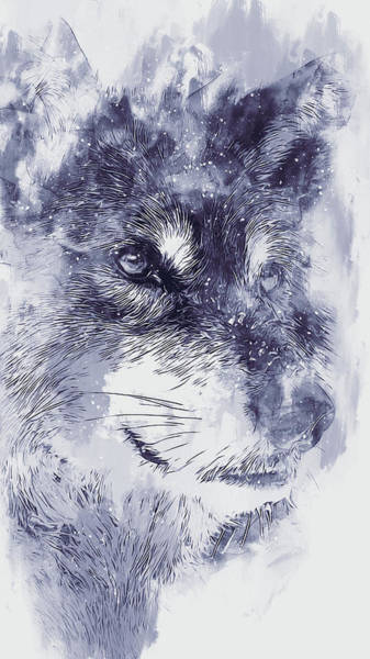 Painting - Wild Wolf - 04 by Andrea Mazzocchetti