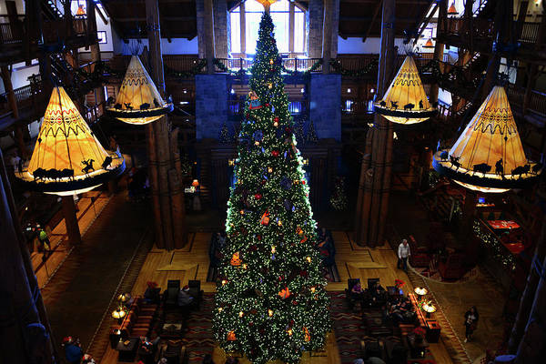 Wall Art - Photograph - Wilderness Lodge Christmas Tree by David Lee Thompson