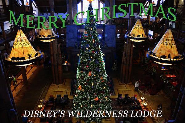 Wall Art - Photograph - Wilderness Lodge Custom Card by David Lee Thompson