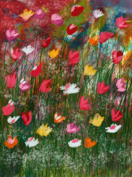 Wall Art - Mixed Media - Wildest Flowers 3- Art By Linda Woods by Linda Woods