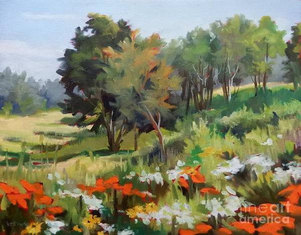 Wall Art - Painting - Wildflower Meadow by K M Pawelec