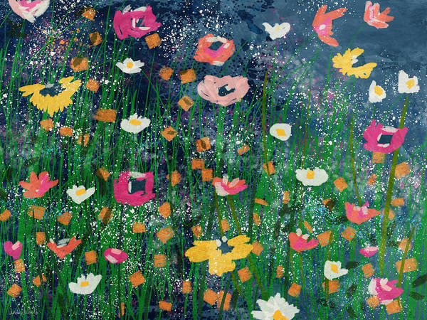 Wall Art - Mixed Media - Wildflowers 2- Art By Linda Woods by Linda Woods