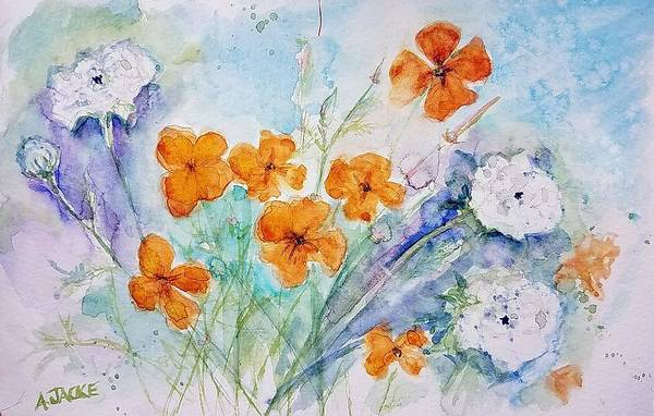 Painting - Wildflowers by Anna Jacke