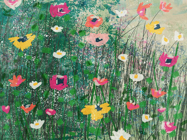 Wall Art - Mixed Media - Wildflowers- Art By Linda Woods by Linda Woods
