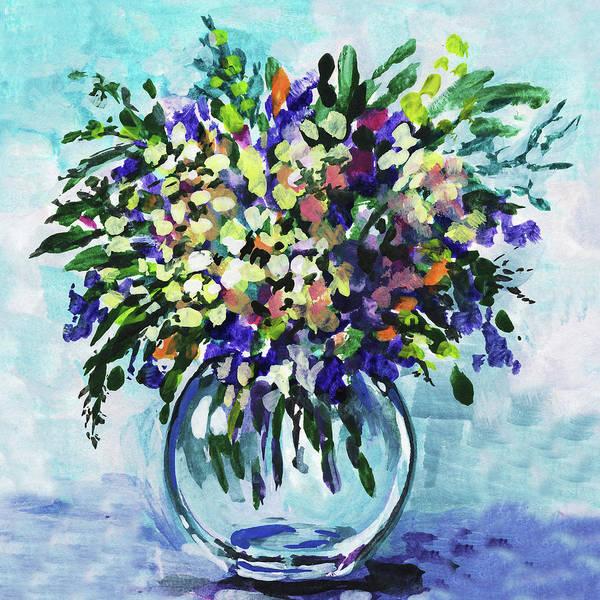 Painting - Wildflowers Bouquet Floral Impressionism  by Irina Sztukowski