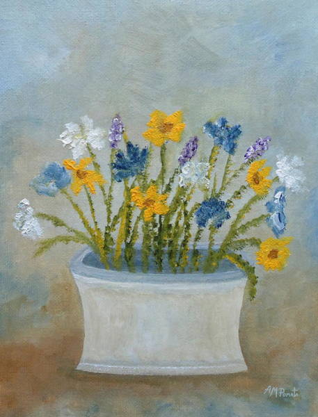 Painting - Wildflowers In A Vase by Angeles M Pomata