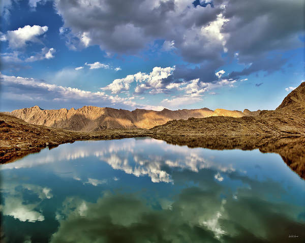 Altitude Photograph - Wildhorse Lake Reflections by Leland D Howard
