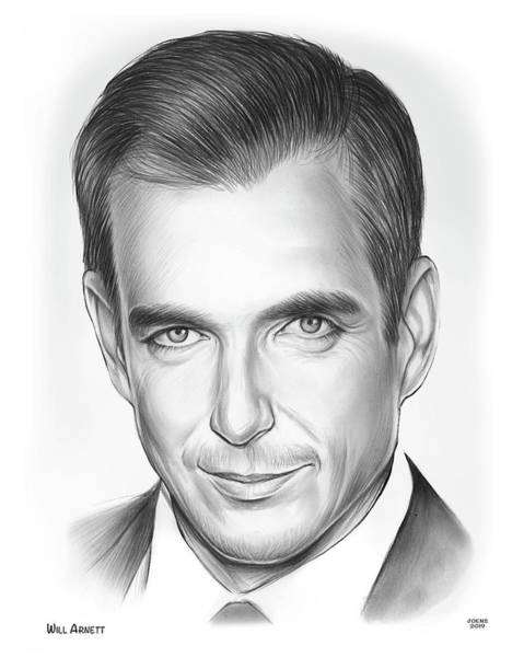 Wall Art - Drawing - Will Arnett by Greg Joens