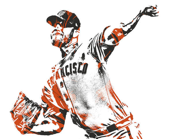 Wall Art - Mixed Media - Will Smith San Francisco Giants Pixel Art 1 by Joe Hamilton