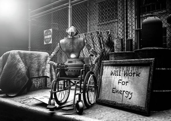 Digital Art - Will Work For Energy by Bob Orsillo