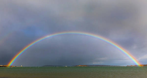 Photograph - Willard Beach Rainbow by Colin Chase