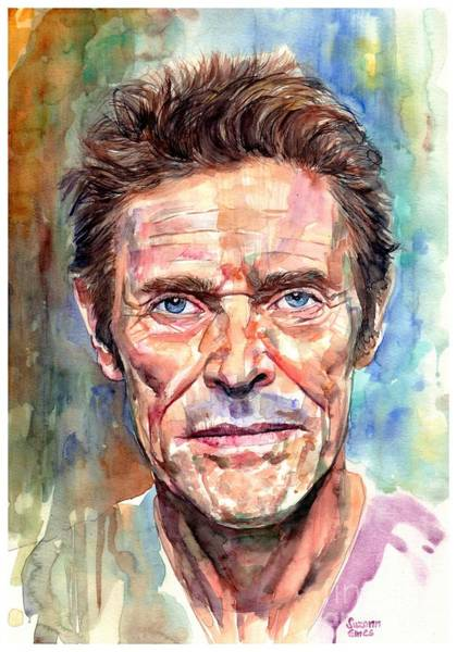 Wall Art - Painting - Willem Dafoe Portrait by Suzann Sines