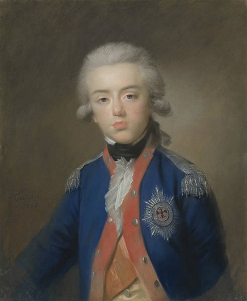 Pastel - Willem George Frederik  by Johann Friedrich August Tischbein
