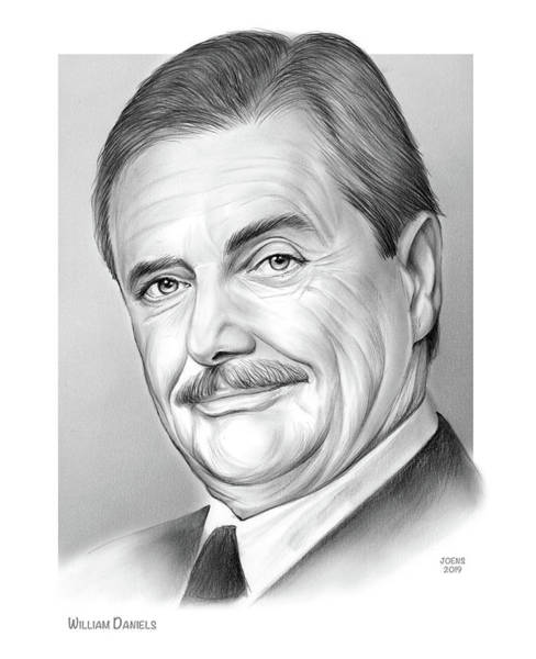 Knights Drawing - William Daniels by Greg Joens
