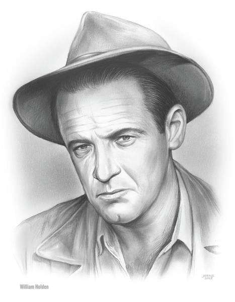 Academy Award Wall Art - Drawing - William Holden by Greg Joens