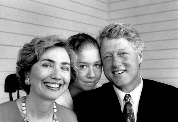 Hillary Clinton Photograph - William J. Clinton & Familyhillary by Alfred Eisenstaedt