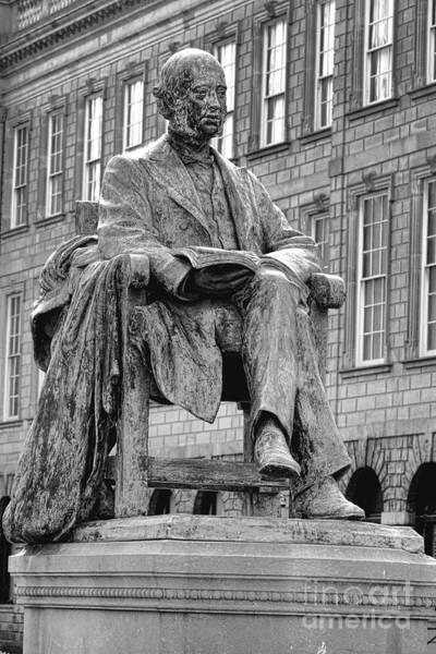 Photograph - William Lecky Statue At Dublin Trinity College by Olivier Le Queinec