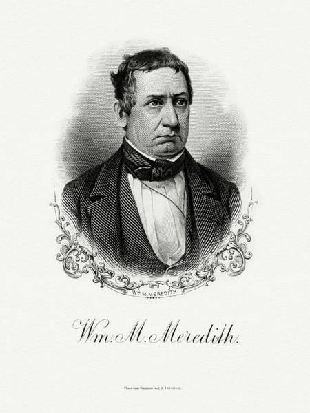 Wall Art - Painting - William M. Meredith by The Bureau of Engraving and Printing