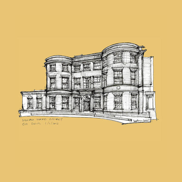 Pen And Ink Mixed Media - William Morris Gallery Yellow by Adendorff Design