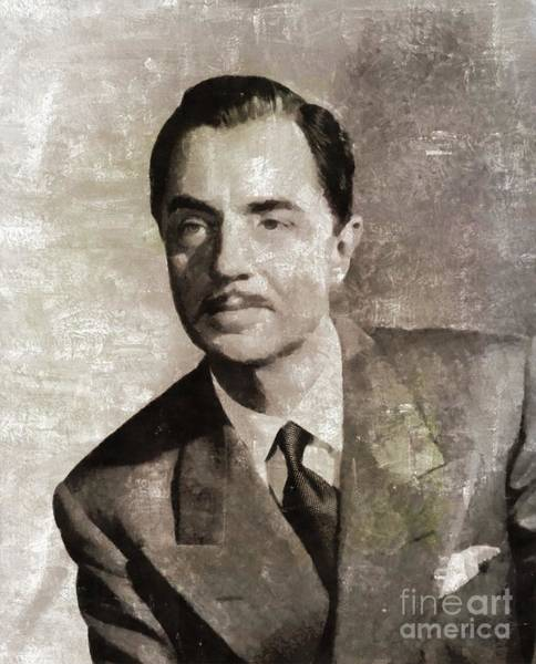 Wall Art - Painting - William Powell, Hollywood Legend by Mary Bassett
