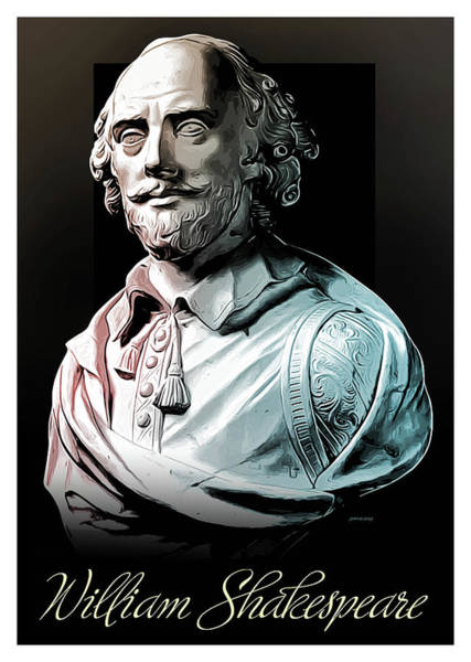 Wall Art - Digital Art - William Shakespeare by Greg Joens