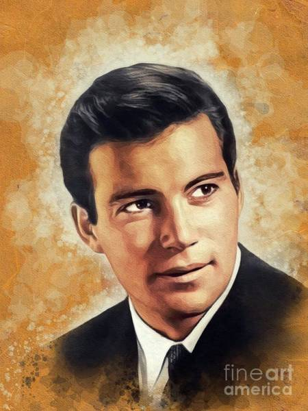 Wall Art - Painting - William Shatner, Hollywood Legend by John Springfield