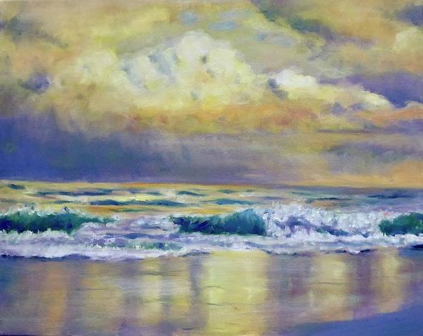 Wall Art - Painting -  William Troste Richards Seascape by Jane Wong