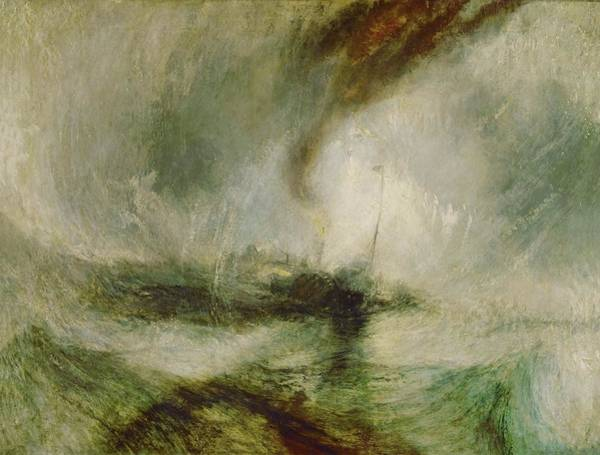 Car Accident Painting - William Turner Snow Storm Steam-boat Off A Harbour's Mouth. Date/period Ca. 1842. Painting. by J M W Turner