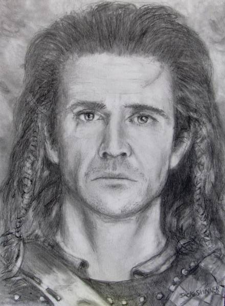 Wall Art - Drawing - William Wallace by Jack Skinner