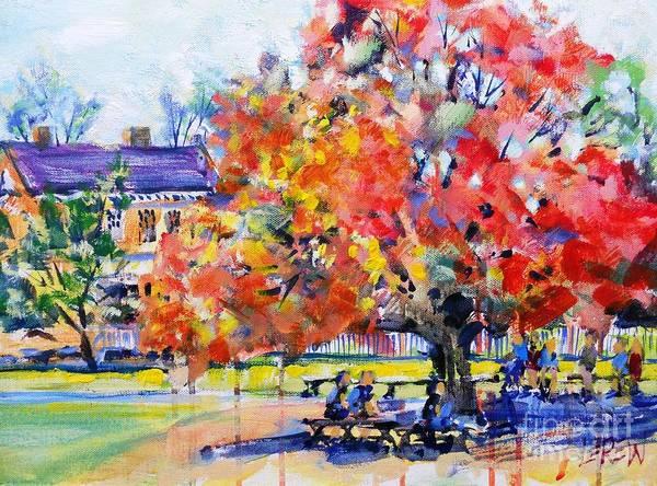 Courthouse Falls Painting - Williamburg Courthouse Tree by Larry Lerew