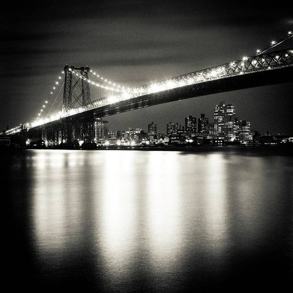 Williamsburg Photograph - Williamsburg Bridge At Night by Adam Garelick