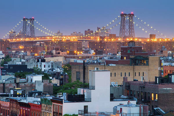 Williamsburg Photograph - Williamsburg Bridge From East Village by Ryan D. Budhu