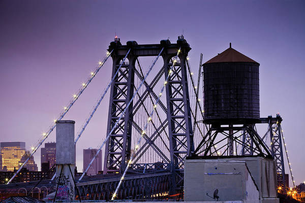 Williamsburg Photograph - Williamsburg Bridge by Hal Bergman
