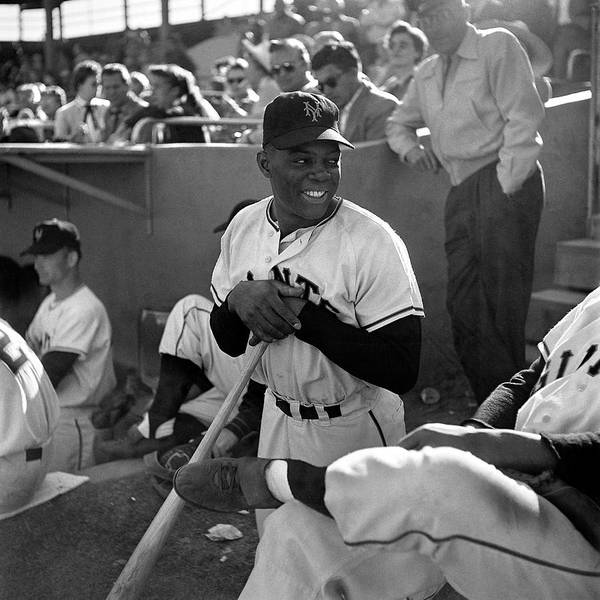 Human Interest Photograph - Willie Mays At Spring Training In by Loomis Dean