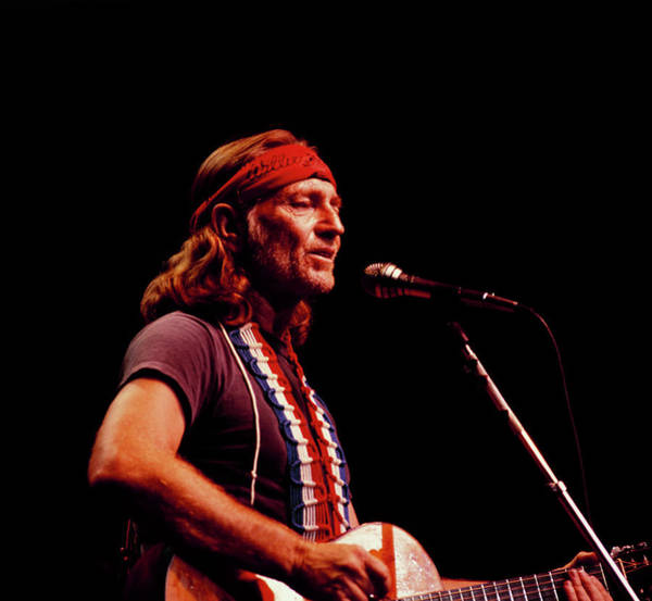 Headband Photograph - Willie Nelson Performs On Stage by David Redfern
