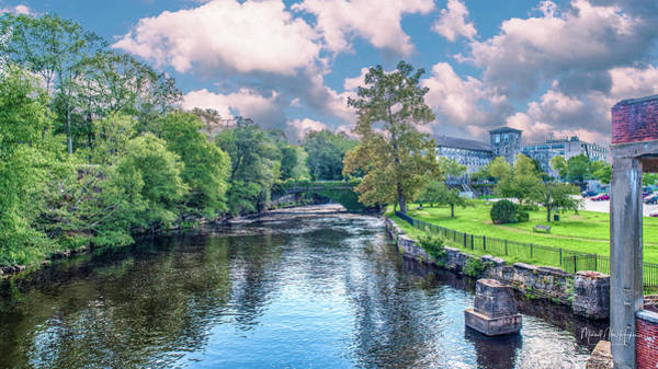 Photograph - Willimantic River With Clouds by Michael Hughes