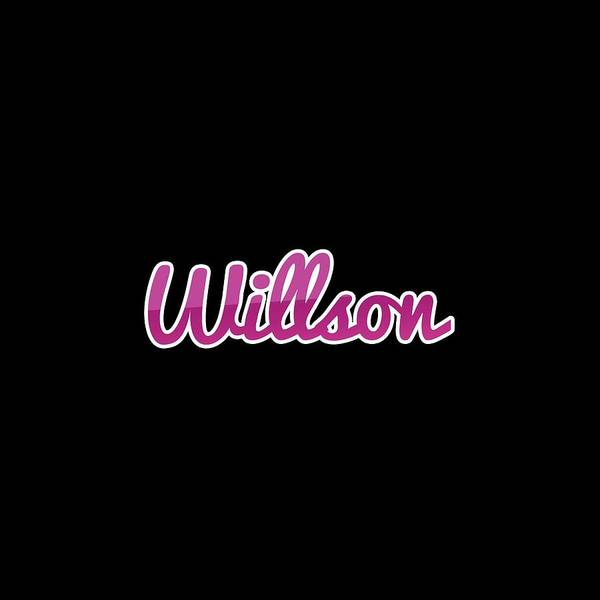 Wall Art - Digital Art - Willson #willson by TintoDesigns