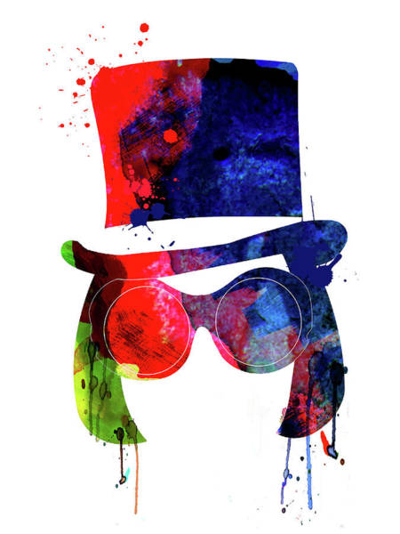 Wall Art - Mixed Media - Willy Wonka Watercolor by Naxart Studio