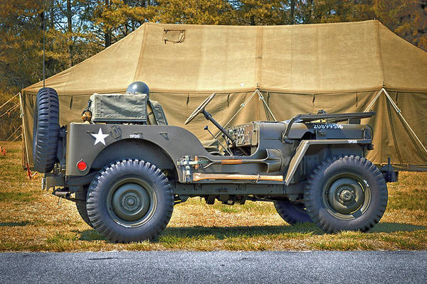 Photograph - Willys Jeep U S A 20899516 At Fort Miles by Bill Swartwout Photography